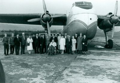 Club members pictured during a visit to Leeds-Bradford airport